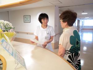 病棟窓口での受付・入院相談